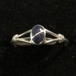 Vintage 925 Sterling Silver Blue Lapis Ring Size 6